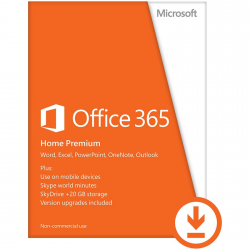 Microsoft® Office 365 Home Premium 32-bit/x64 All Languages Subscription Online Product Key License 1 License Eurozone Click to