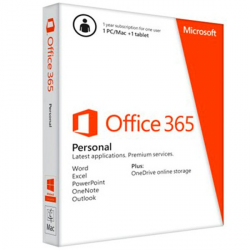 Microsoft® Office 365 Personal 32-bit/x64 All Languages Subscription Online Product Key License 1 License Eurozone Downloadable